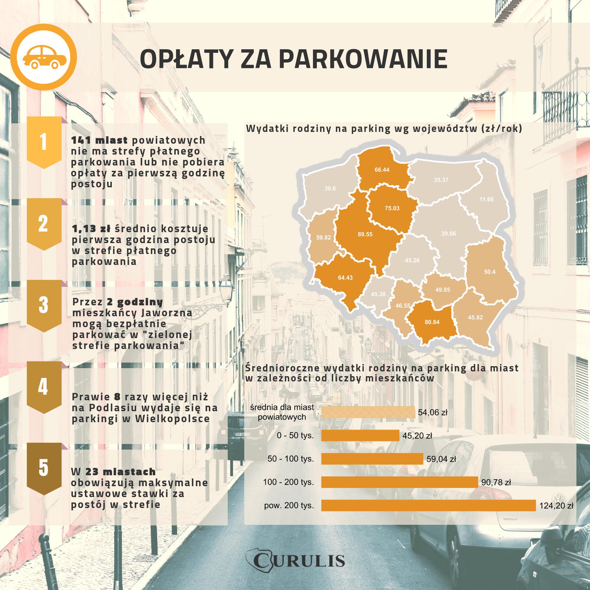 Infografika #10 - Koszty parkingów