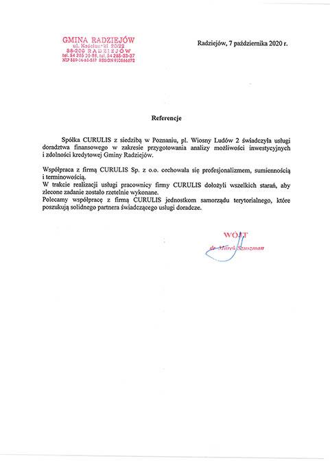 Analiza finansowa - Gmina Radziejów
