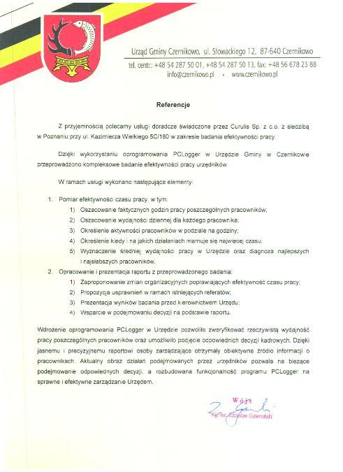 Badanie obciążenia zadaniami - Czernikowo