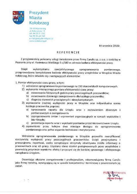 Badanie obciążenia zadaniami - Kołobrzeg