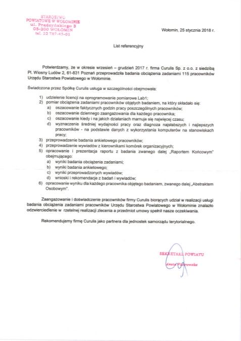 Badanie obciążenia zadaniami - Powiat Wolomiński