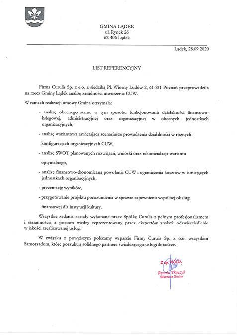CUW - Gmina Lądek