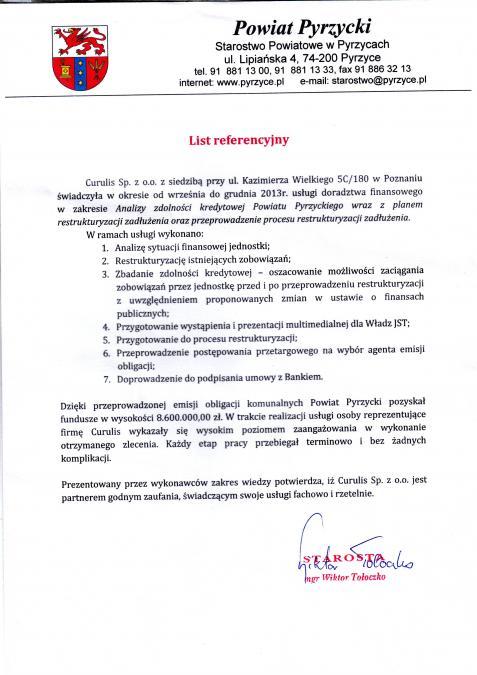 Restrukturyzacja długu - P. Pyrzycki