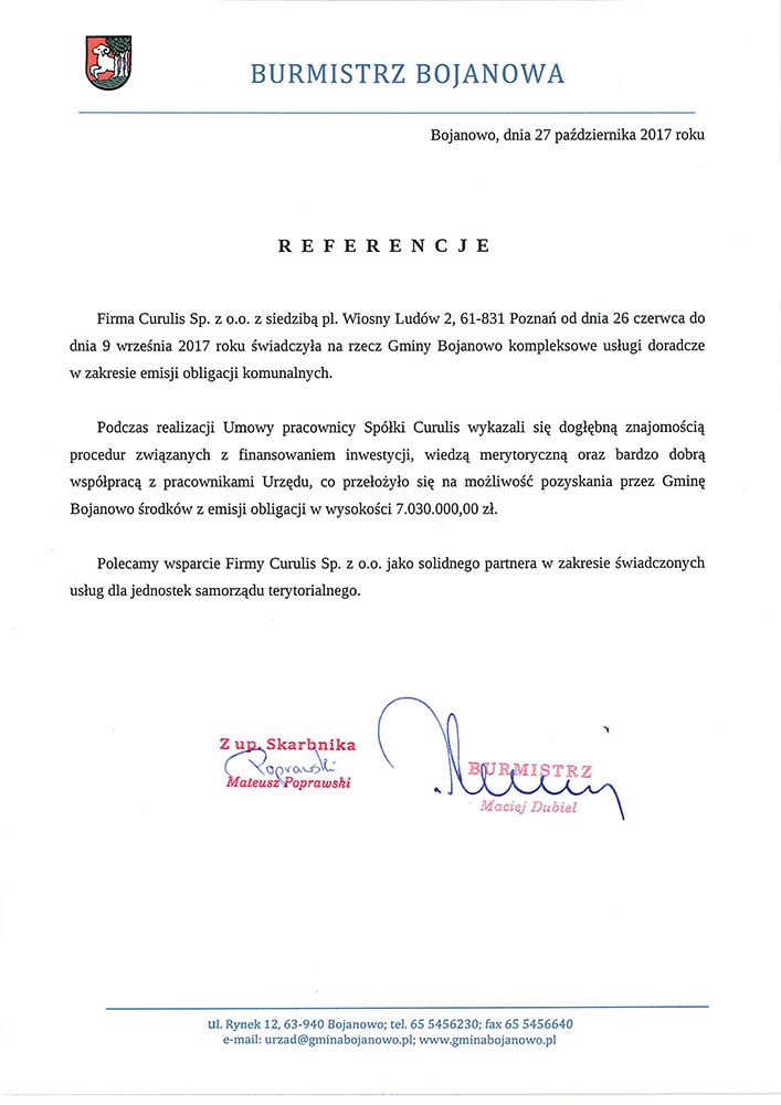Emisja obligacji - Gmina Bojanowo
