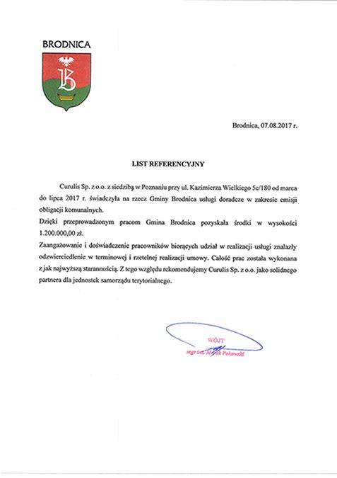 Emisja obligacji - Gmina Brodnica