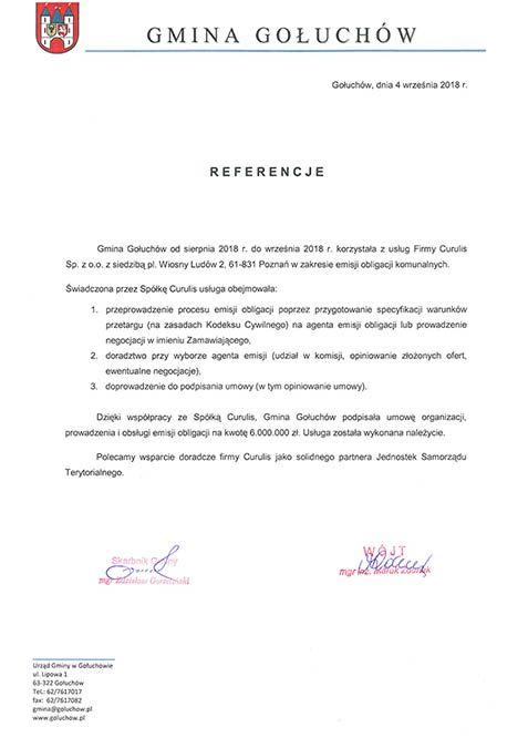 Emisja obligacji - Gołuchów