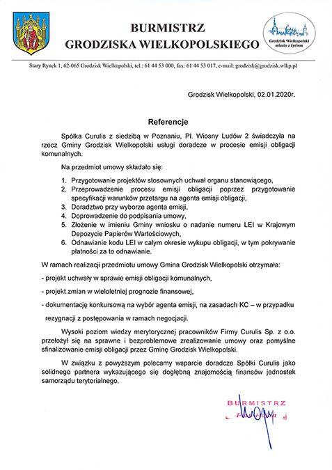 Emisja obligacji - Grodzisk Wielkopolski