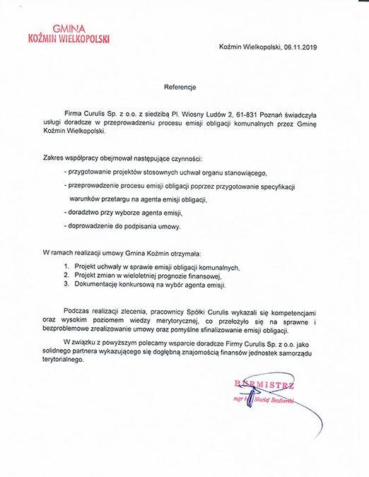 Emisja obligacji - Koźmin Wielkopolski