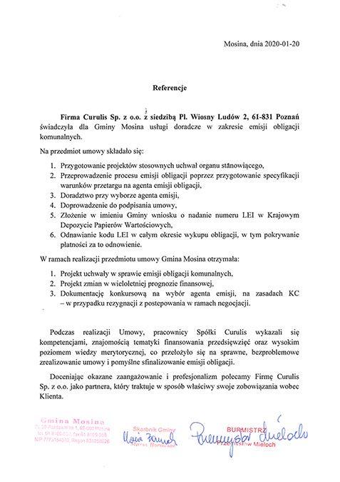 Emisja obligacji - Mosina