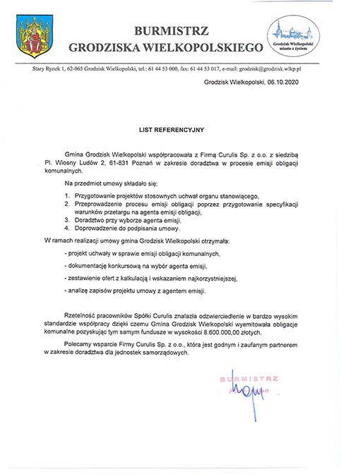 Emisja obligacji komunalnych - Grodzisk Wielkopolski