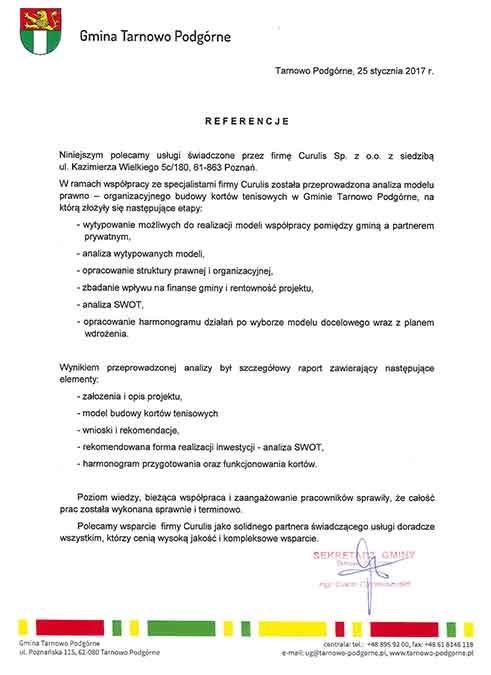 Partnerstwo publiczno-prywatne - Tarnowo Podgórne