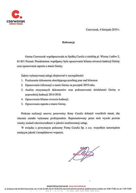 Raport o stanie gminy - Czerwonak