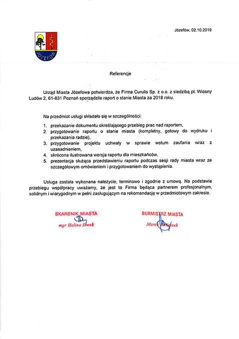 Raport o stanie miasta - Józefów