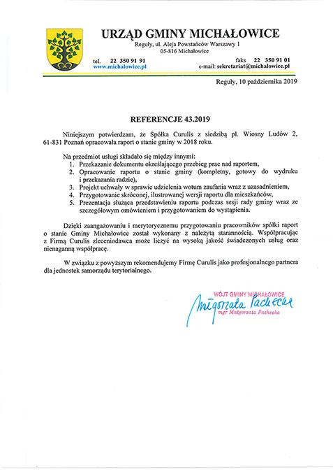 Raport o stanie gminy - Michałowice