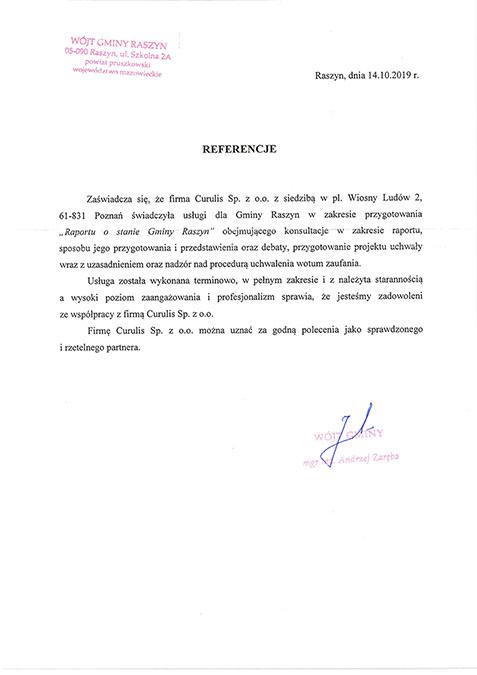 Raport o stanie gminy - Raszyn