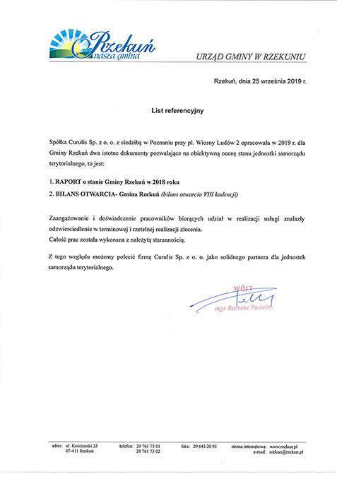 Raport o stanie gminy - Rzekuń