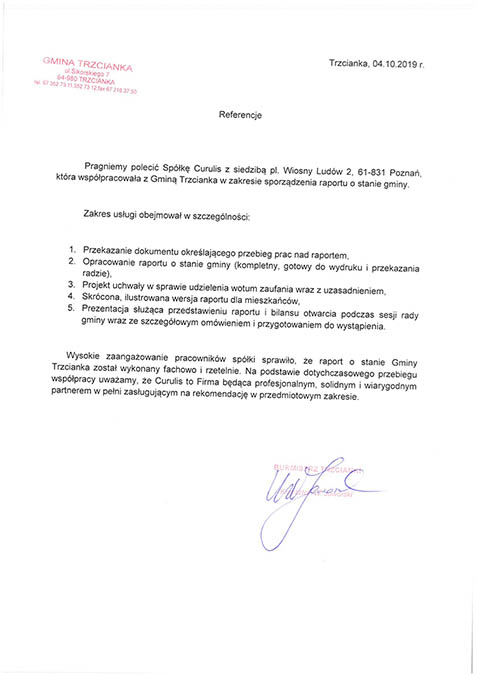 Raport o stanie gminy - Trzcianka
