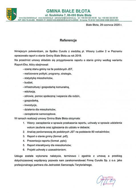 Raport - Gmina Białe Błota