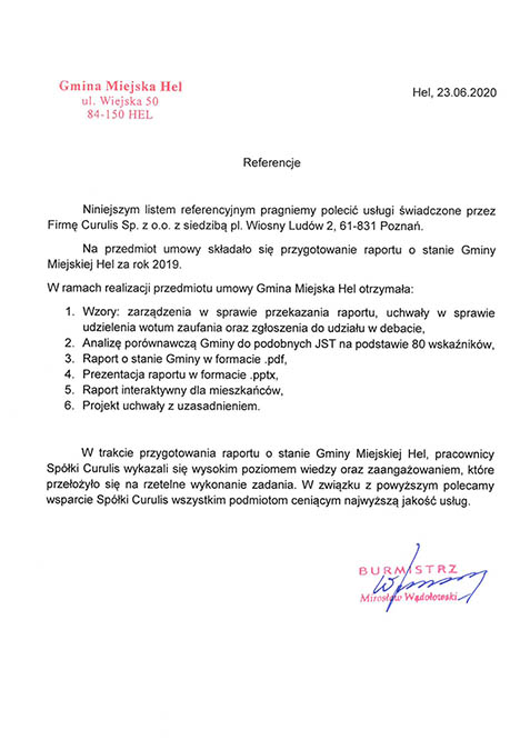 Raport - Gmina Miejska Hel