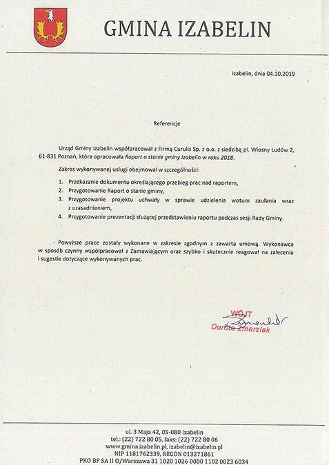 Raport o stanie gminy - Izabelin