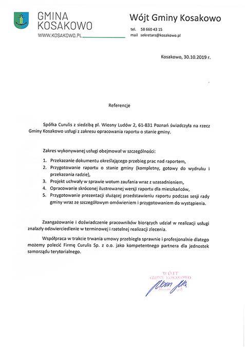 Raport o stanie gminy - Kosakowo