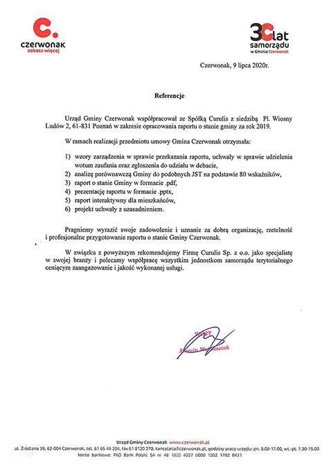 Raport - Gmina Czerwonak
