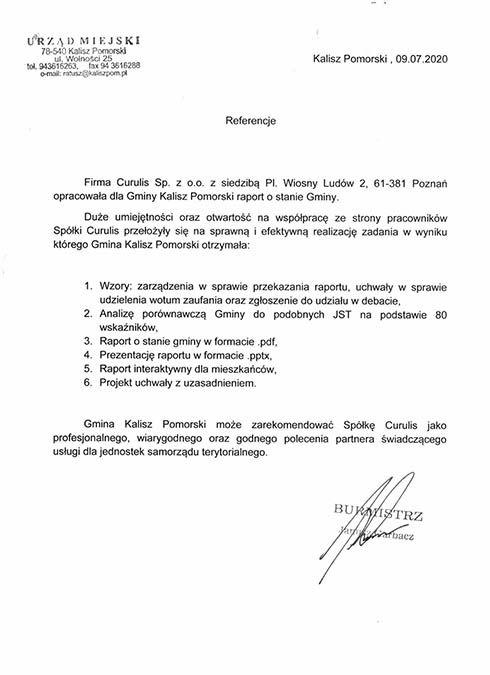Raport - Gmina Kalisz Pomorski