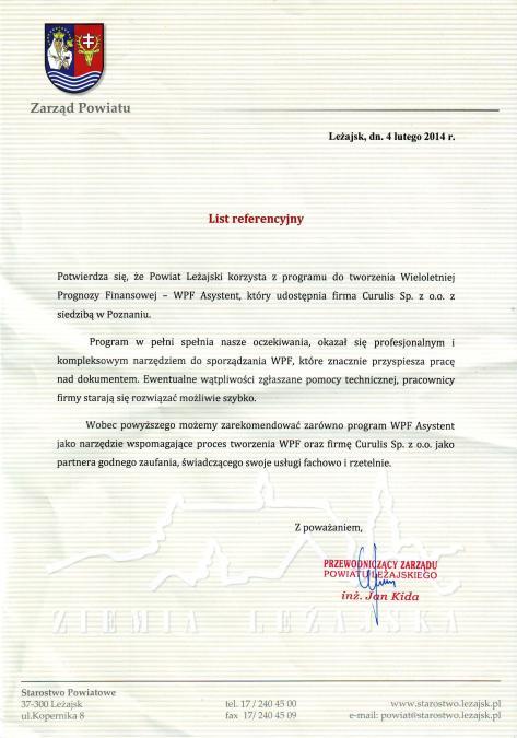 WPF Asystent - Powiat leżajski