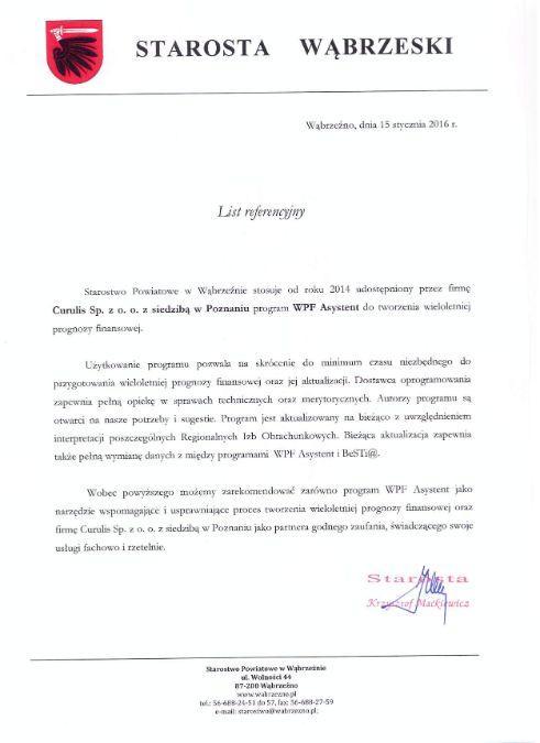 WPF Asystent - Powiat wąbrzeski