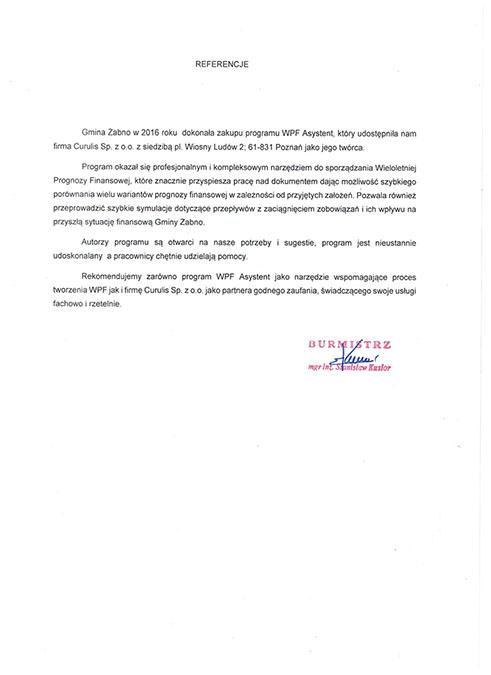 WPF Asystent - Gmina Żabno
