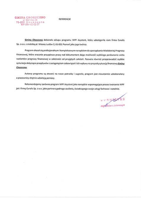 WPF Asystent - Gmina Choszczno