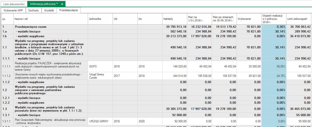 informacja półroczna dochody 2018 WPF Asystent 6