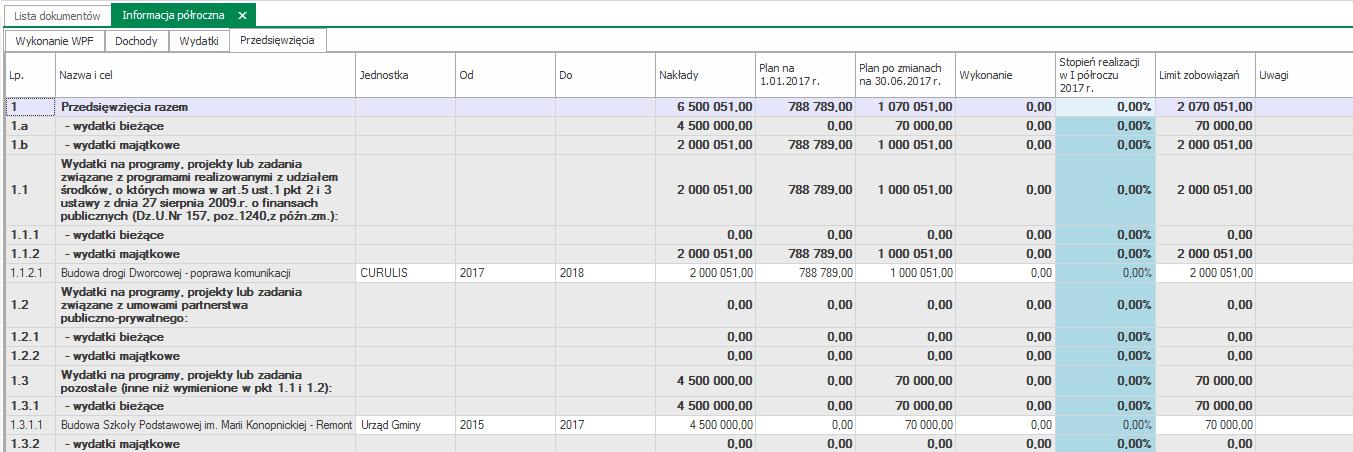informacja półroczna dochody 2017 WPF Asystent 6